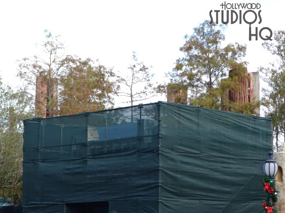 Green construction barriers have been erected as this new stand alone building takes shape. Crews were visible inside continuing electrical work. There is no better source than Hollywood Studios HQ for the latest Park construction news. Disney's Hollywood Studios. Photo by John Capos
