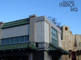 Crews continue construction of this recently named structure located on Grand Avenue. Electrical and awning roof tile are being finalized as original construction barriers have been replaced by portable shrubs. Hollywood Studios HQ provides the latest construction photos and updates. Disney's Hollywood Studios. Photo by John Capos