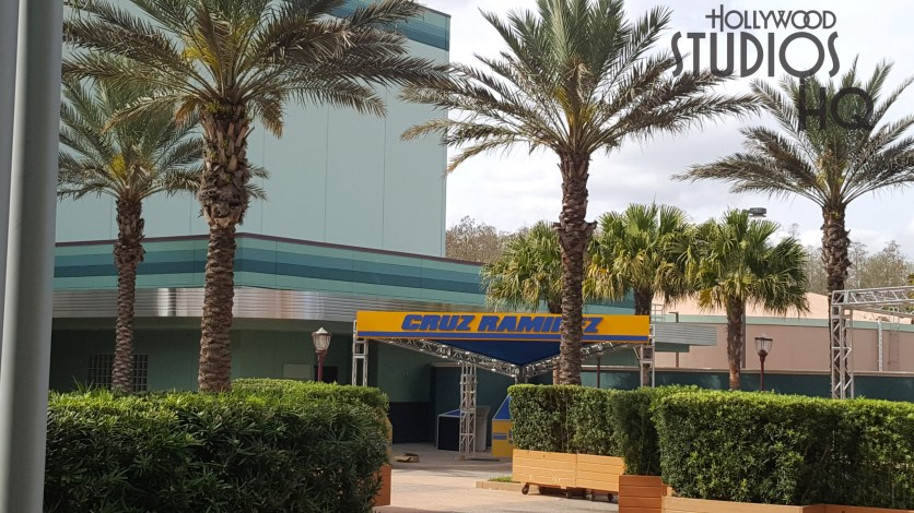 The main sign has been placed for the scheduled March 30, 2019 opening of the Lightning McQueen's Racing Academy. The Cruz Ramirez guest meet and greet area is visible in the photo below. Hollywood Studios HQ provides the latest Park attraction news. Disney's Hollywood Studios. Photo by John Capos