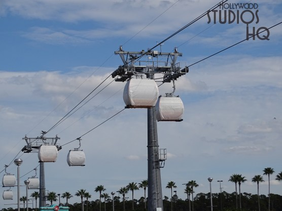 Crews continue to test a large number of gondola vehicles in motion to and from the Park's guest loading and unloading station. Over head surveillance camera installation and exterior painting work continue. Hollywood Studios HQ continues to provide the latest Skyliner updates. Disney's Hollywood Studios. Photo by John Capos