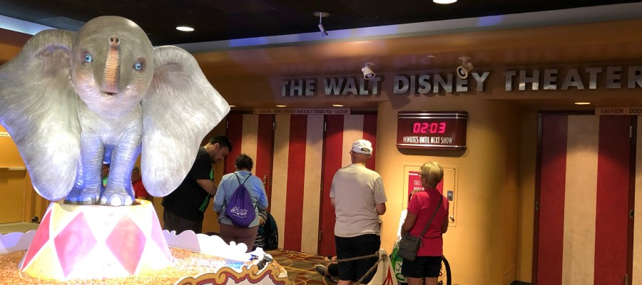 Guests can enjoy a nine minute preview of the new motion picture Dumbo that premiers in theaters on March 29, 2019. This new movie is inspired by Disney's animated film of the same name. The preview can be enjoyed daily in the Walt Disney Theatre from 10am to 6 pm. Remain tuned to Hollywood Studios HQ for the latest Park news. Disney's Hollywood Studios. Photo by John Capos