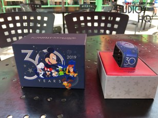 Guests celebrating the Park's 30th Anniversary were treated to a selection of commemorative merchandise on May 1, 2019. Adult commemorative tee shirts, hats, tumbler mugs, along with limited edition MagicBands and pins were available to shoppers throughout the Park. A special 30th Anniversary Passholder tee shirt and MagicBand were in high demand. Hollywood Studios HQ is the best source for all 30th Anniversary news. Disney's Hollywood Studios. Photo by John Capos