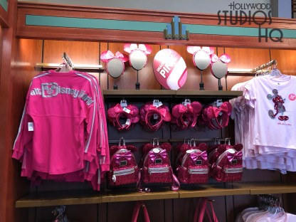 Next door in the Dark Room Store, offers new women's clothing selections themed to different colors including imagination pink and magic mirror metallic. Disney's Hollywood Studios. Photo by John Capos