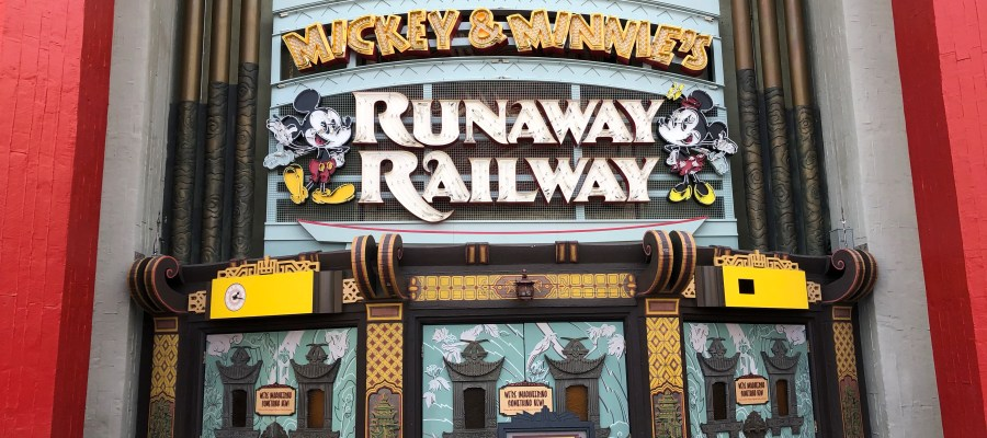 As guests wait in anticipation for the March 4, 2020 opening of the new Mickey & Minnie's Runaway Railroad, crew's have installed a new electric sign for the attraction. In less than one month, riders of all ages will step aboard their adventure through a cartoon universe. Stay tuned here at Hollywood Studios HQ for the latest updates on this coming attraction. Disney's Hollywood Studios. Photo by John Capos