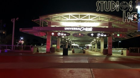 Universal Studios Orlando welcomed guests to the reopening of City Walk on May 14, 2020. From the moment visitors entered the Park's property amid the lush landscape, City Walk Orlando team members eagerly greeted arriving individuals . A visitor health screening station in the parking structure walk way took guest temperatures and assured face coverings prior to the entrance to Universal's normal security bag screening and metal detector pass through. Hosts stationed on the second level above the main City Walk entrance waved to guests as they announced available dining and shopping locations including pass holder discounts over a speaker system throughout the evening. Signage and team members encouraged visitors to practice heathy practices including safe social distancing during the 4pm to 10 pm operating hours. While the Universal Studios and the Islands of Adventure parks remained closed, construction and refurbishment was visible through entrance gates and in the distant skyline. Crowds eagerly sought out some of their favorite locations including VooDoo Donuts, Bubba Gump Shrimp Company, Margaritaville, as well os Hollywood Drive In Golf. Despite a smaller guest capacity and limited menus for the first evening after a nearly two month shutdown, visitors flocking to City Walk Orlando were happy to be back. Photo by John Capos