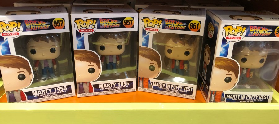 Shoppers can now select from four new Back To The Future themed Pop! Figures in stores throughout the Park. These vinyl figures include Doc 2015, Marty 1955, Marty In Puffy Vest, and Biff Tannen. Stay connected to Hollywood Studios HQ for the latest Universal Studios merchandise updates! Universal Orlando. Photo by John Capos