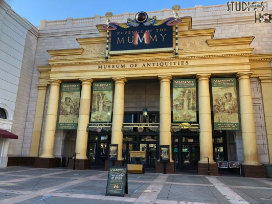 Visitors will need to forgo the breathtaking plunge into darkness while workers complete refurbishment of the popular Revenge of the Mummy attraction. This indoor coaster will again allow guests to face the mummy's evil on January 15, 2021. Subscribe now to Hollywood Studios HQ for the latest Universal Orlando Resort news! Photo by John Capos