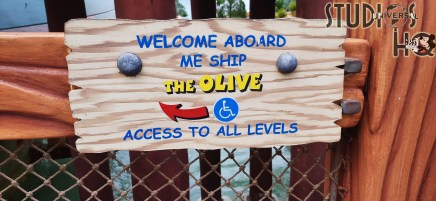 Guests can enjoy all the features of the recently reopened Me She, the Olive attraction. This multi-story play area includes steps, slides, and interactive features to delights kids of all ages. A popular feature are the ship side water guns that allow guests to shoot water streams on riders passing below on Popeye & Bluto's Blige-Rat Barges. Stay tuned here for all the latest park news. Universal Orlando. Photo by John Capos