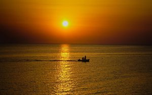 Sunset Fourka Halkidiki Greece