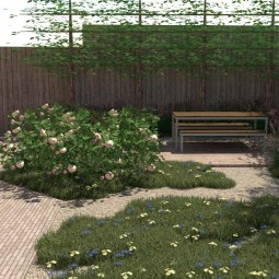 zithoek houten terras