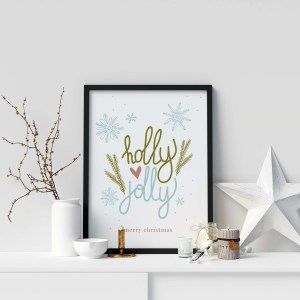 Printable-kerstmis-poster-holly-jolly