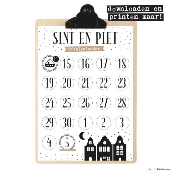 Sinterklaas-aftelkalender-printable