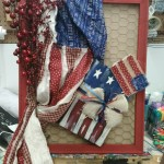 DIY crafts chicken wire frames merchant kitty guided art 4th of july