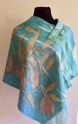Eco print tunic blue