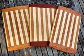 Mike Lynch, A set of 3 cherry and maple cutting boards
