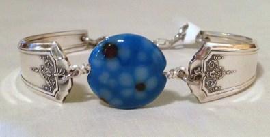 Kim Vredenburg, Lampwork beaded flatware bracelet