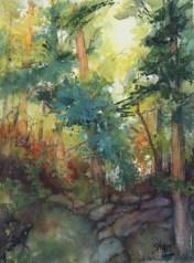 Susan Shaw, Woodlands, watercolor