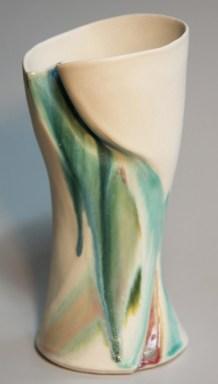 Susan Shaw, porcelain vase, 4.5x10