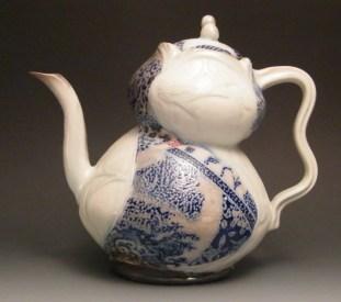 Jay Lacouture, Teapot, Soda Vapor Glazed Porcelain