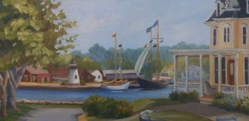 Beth Drainville, View from River Street, 10x20-oil