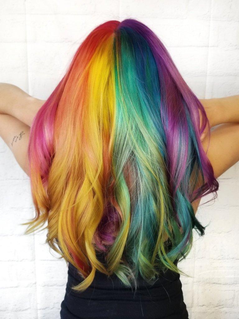Rainbow Hair by Katie Froehlich – Senior Stylist | Studio Trio Hair Salon