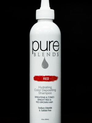 Pure Blends Hydrating Color Depositing Shampoo – Red | Studio Trio Hair Salon