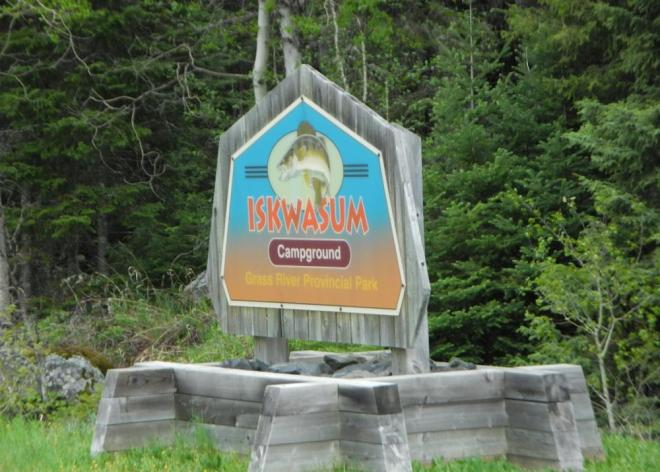Iskwasum campground sign