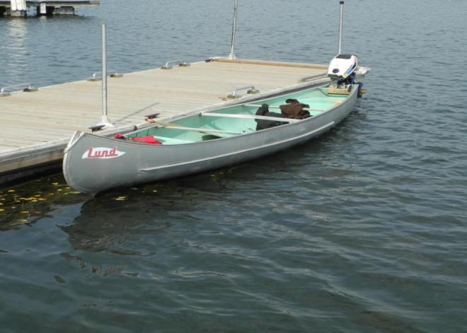 Stern back Lund canoe