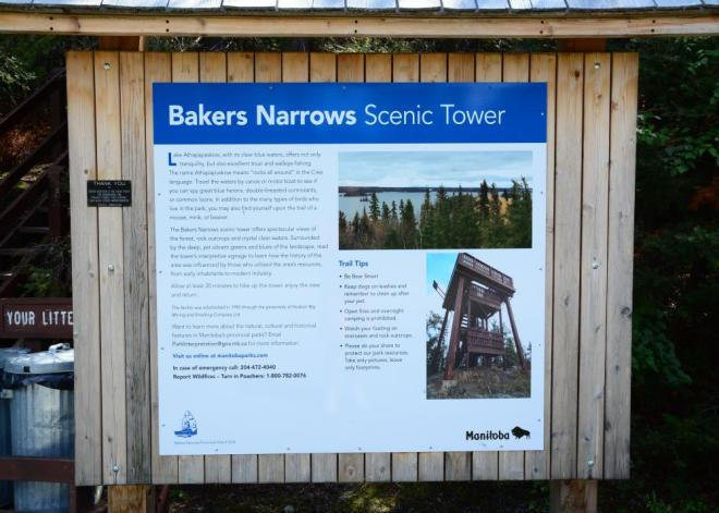 Bakers Narrows Scenic Tower sign