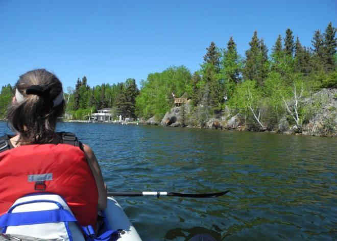 Bakers Narrows paddle along shore