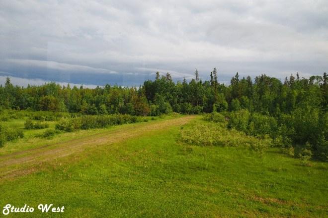 Road into Wapawekka Lake