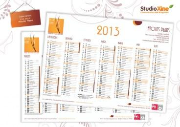 calendrier 2013 Atouts Plans