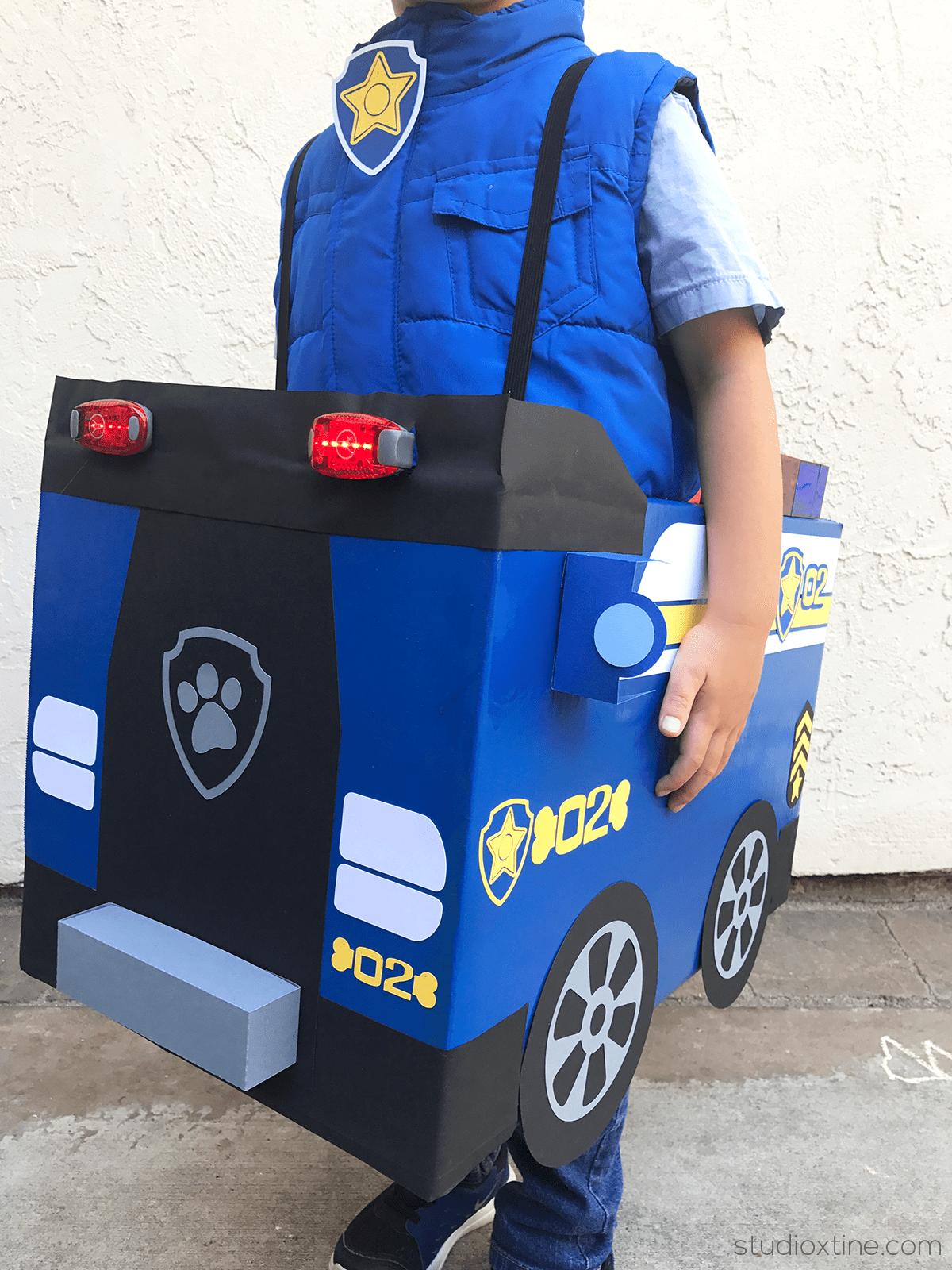 How I made the Chase costume & DIY Paw Patrol Chase and Skye Halloween Costumes u2013 Studio Xtine
