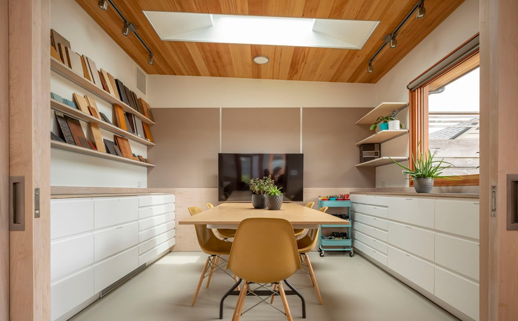 Interior view of Studio Zerbey modern home office space