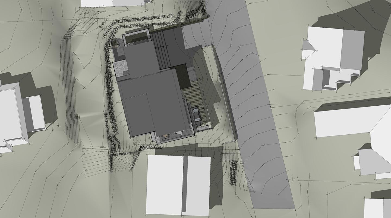Schematic renderings of custom modern home near Lake Washington in Seattle
