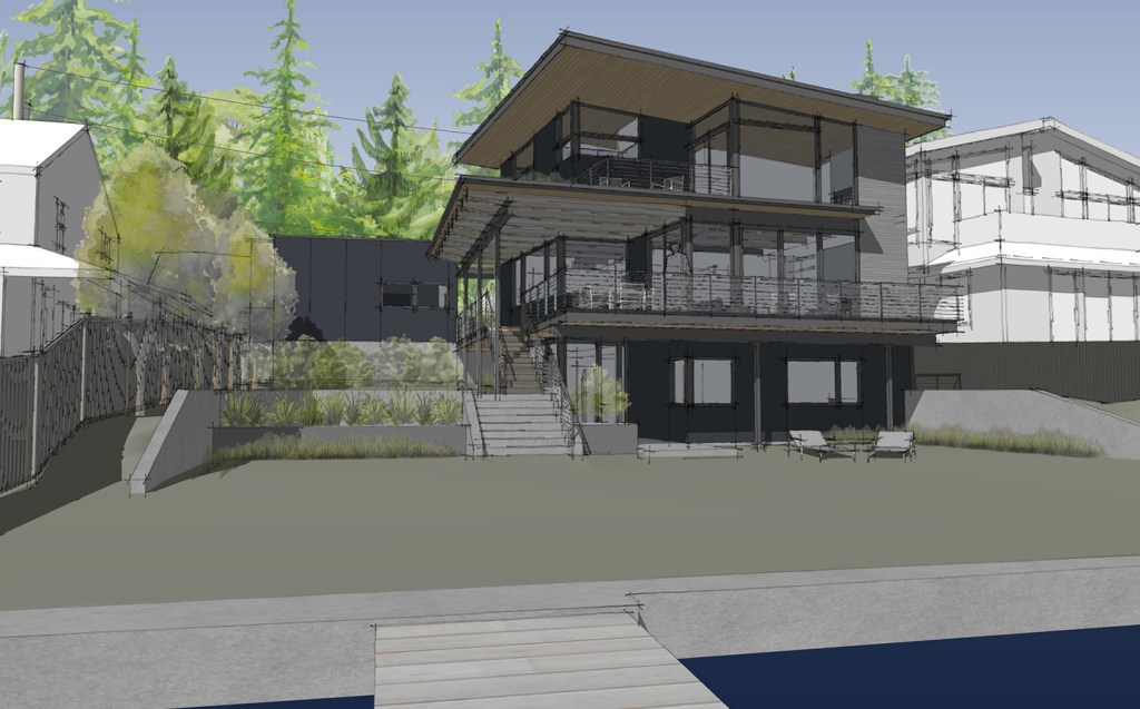 modern Seattle lakefront home