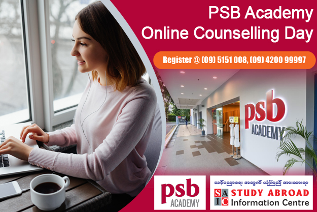 PSB Academy Online Counselling Day (Contact : 09 5151008, 09 420099997)