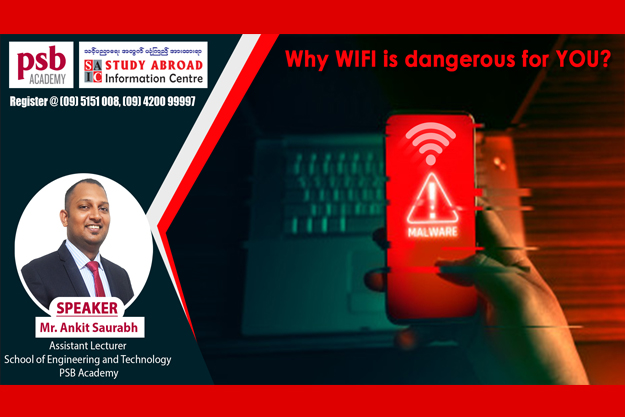 """🌎🔐 Why WIFI is dangerous for you?"""" Online Seminar  (Contact : 09 5151008, 09 420099997)"""