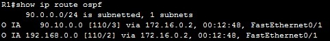 show ip route ospf areas 1