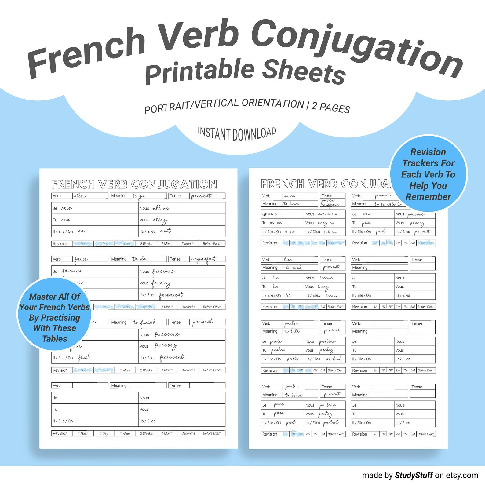 Use This Conjugation Worksheet To Master Your French Verbs