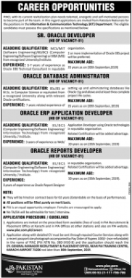 PIA Oracle Developer Jobs 2019 Apply Online Eligibility Criteria
