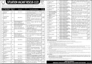 KPK Rescue 1122 Jobs 2021 PTS Application Form Roll No Slips