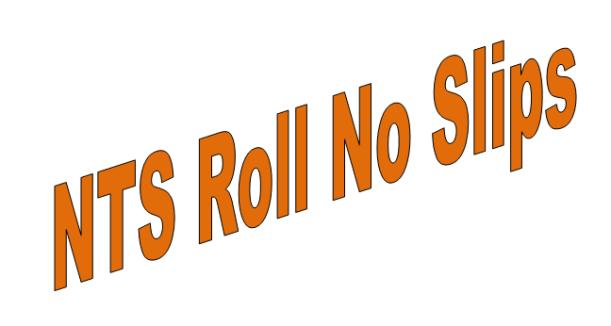 KUST Admission NTS Entry Test Roll Number Slip 2021