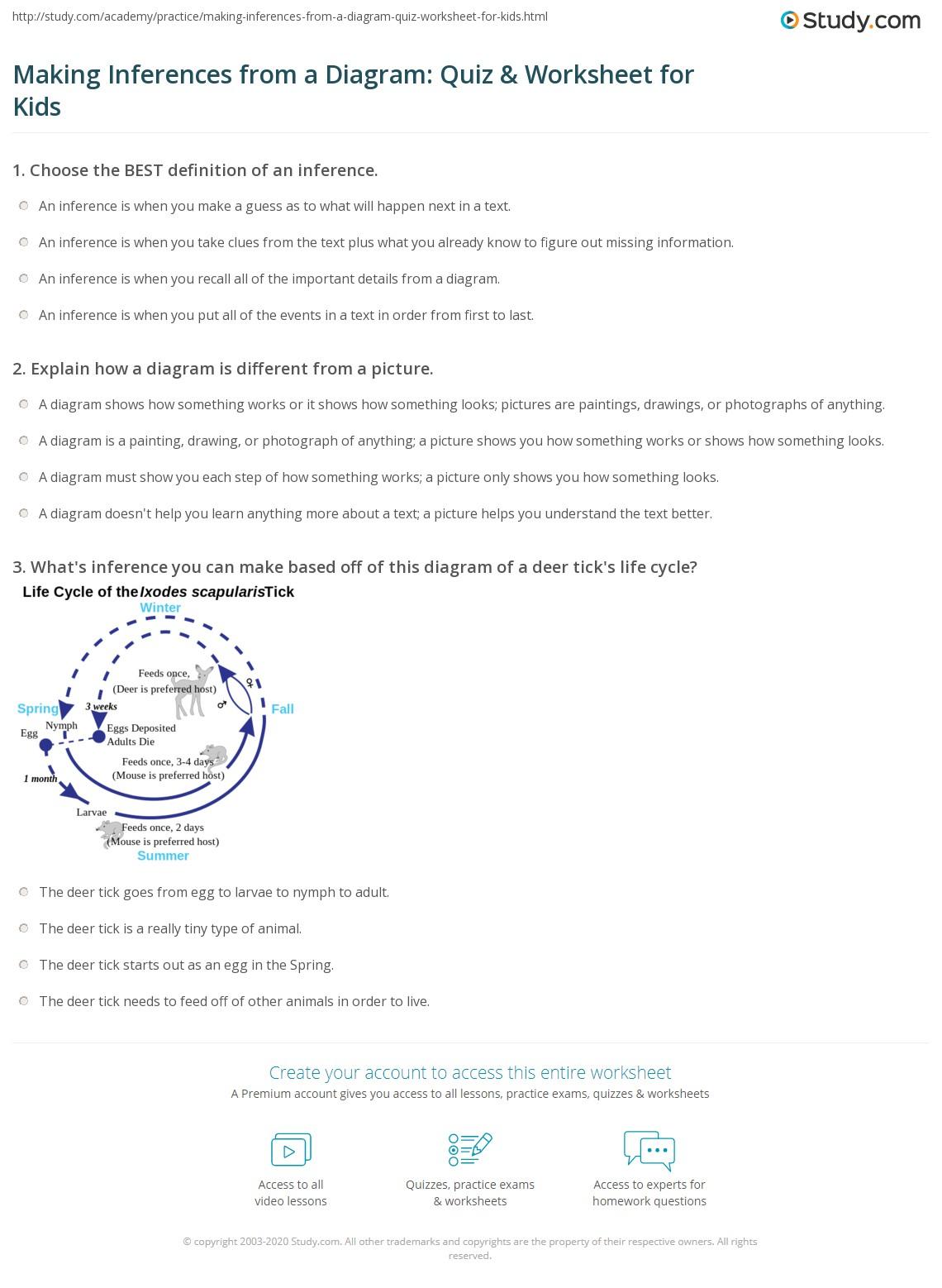 Observation Or Inference Worksheet