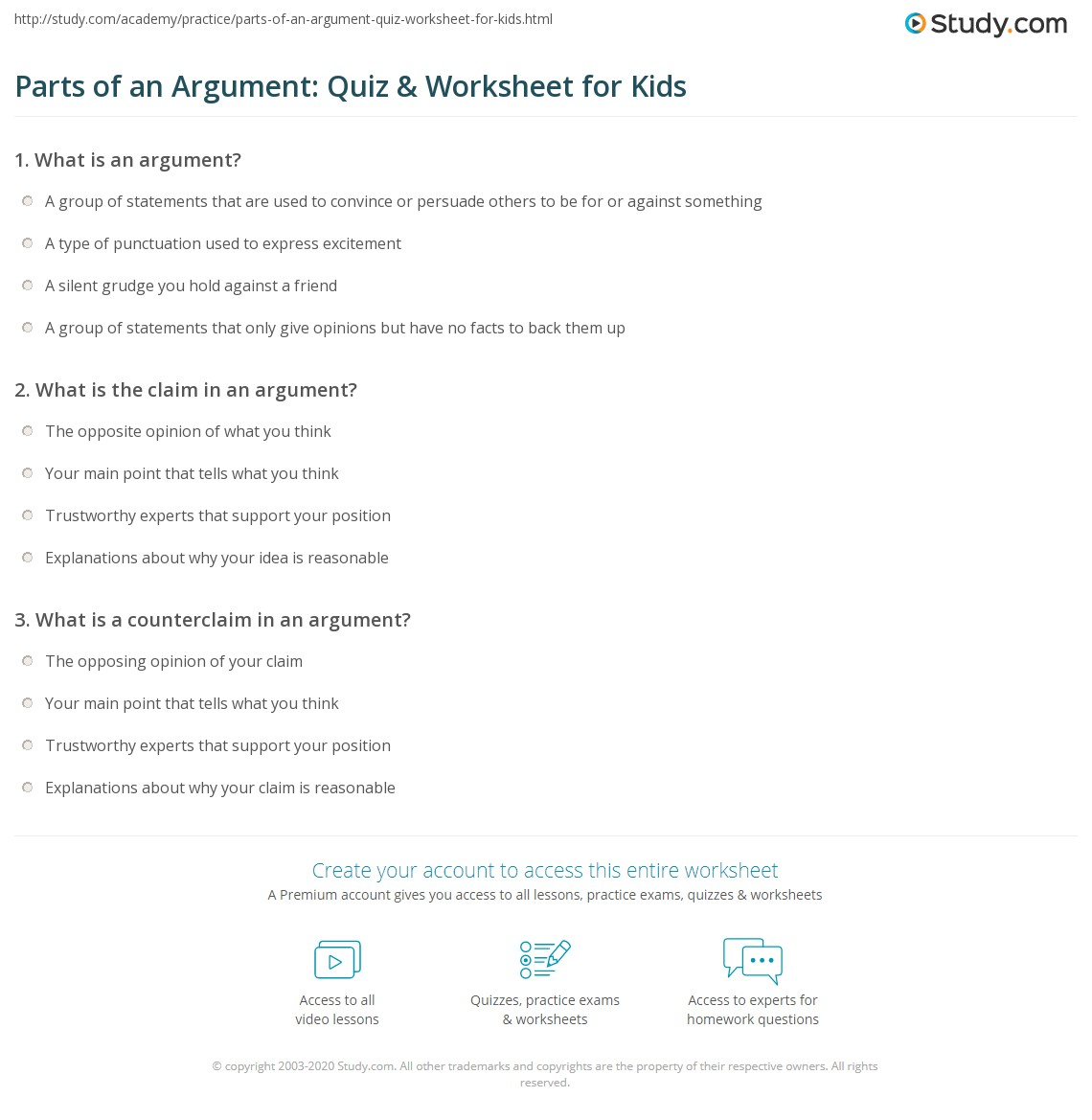 Parts Of A Group Worksheet