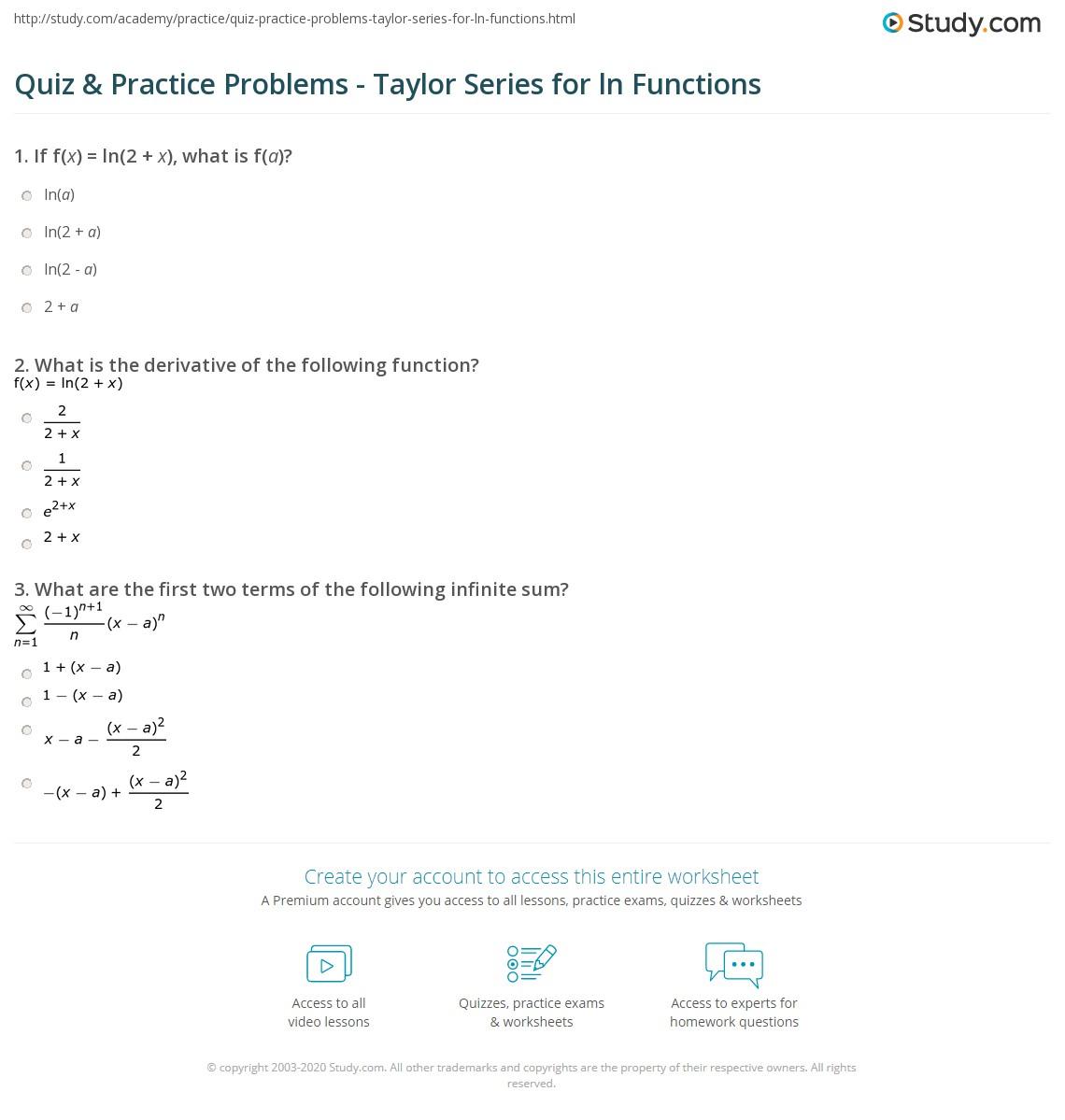 Quiz Amp Practice Problems