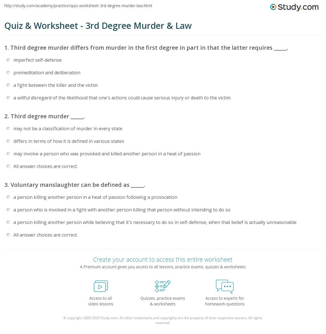 Third Degree Murders Definition