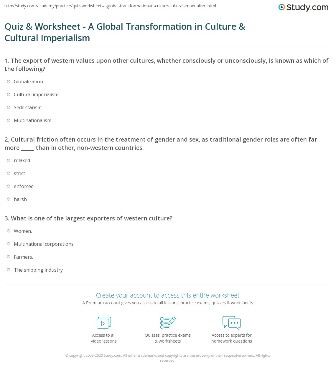 Location And Transformation Worksheet