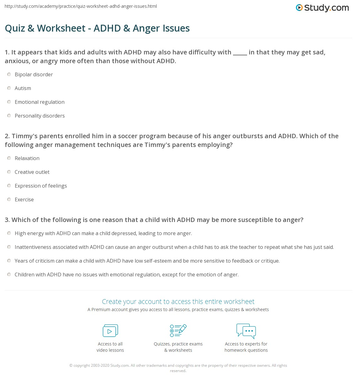 Free Worksheets For Adult Anger Management