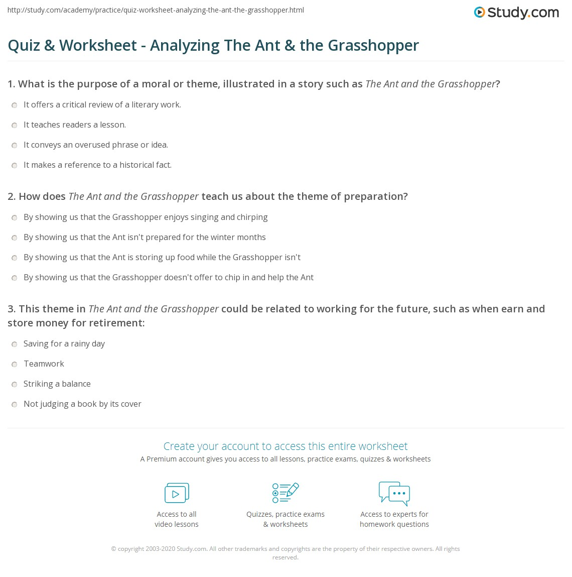 What Is The Theme Of The Ant And The Grasshopper The